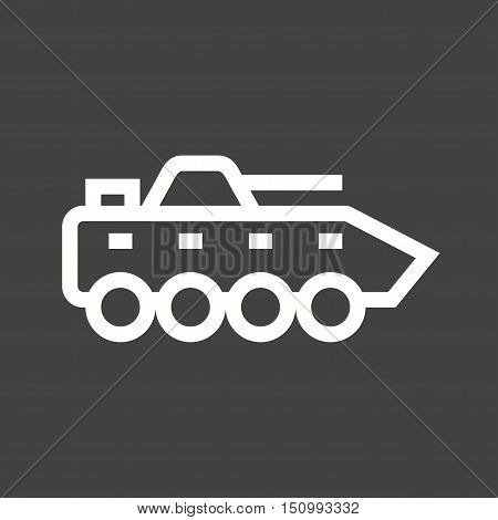Vehicle, tank, machine icon vector image. Can also be used for vehicles. Suitable for mobile apps, web apps and print media.