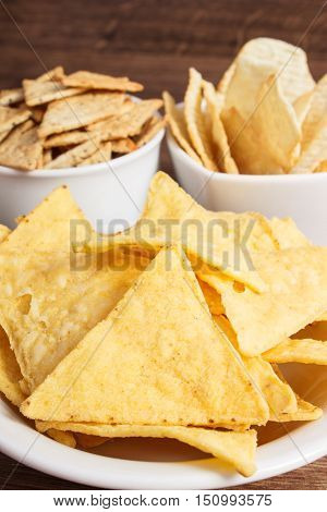 Heap Of Salted Crisps And Cookies, Concept Of Unhealthy Food