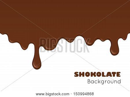 Background Of Flowing Dark Chocolate.