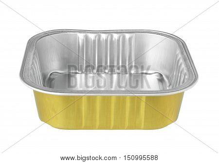 Aluminium Foil Food Tray isolated on white background