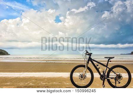 Biking adventure, traveling on a bike, healthy lifestyle, cycling sport, mountain bike