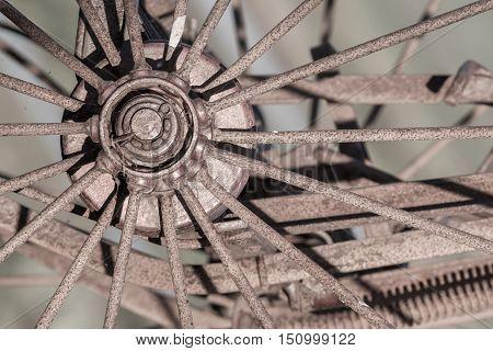 Old Rusty Wheel - Selective Focus