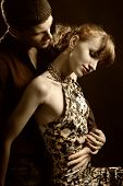 foto of woman glamour  - Man embrace woman - JPG