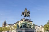 Постер, плакат: Monument In Center Of Cologne Of Kaiser Freidrich Wilhelm At Heumarkt