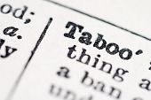 foto of glossary  - Taboo word in dictionary  - JPG