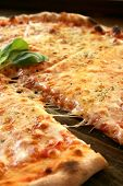 stock photo of take out pizza  - A tasty italian pizza - JPG
