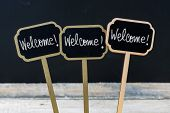 Постер, плакат: Business Message Welcome Welcome Welcome
