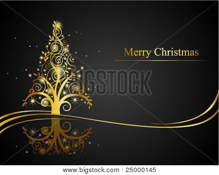 Christmas greeting card, vector EPS8