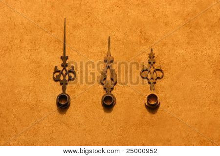 Antique clock hands