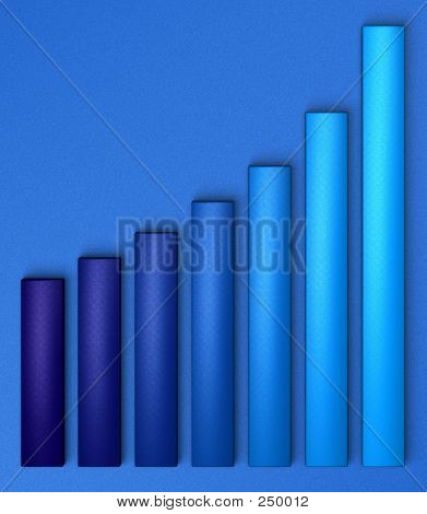 Blue Chart On Blue Background