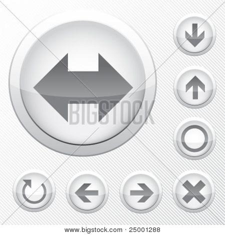 grey vector icons - arrows