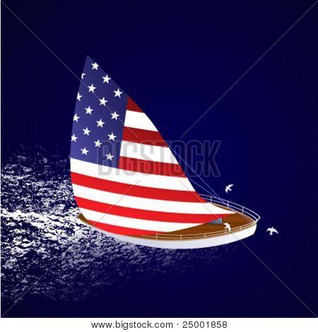 American sailboat