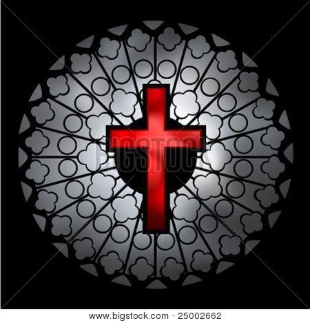 christliche Kirchenfenster-Vektor-illustration