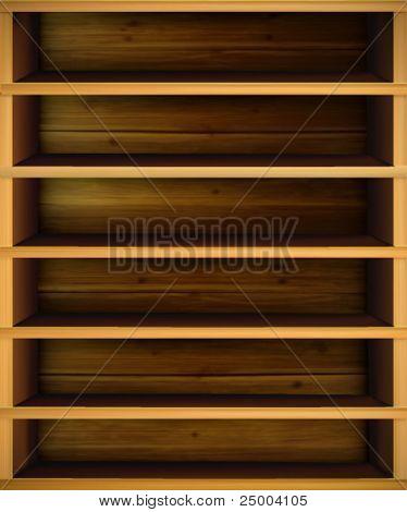 Vector ilustración de estante