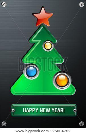 Analogue techno New Year tree