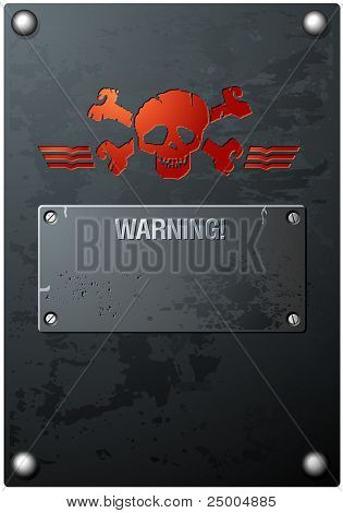 Red Skull on Grungy Metal