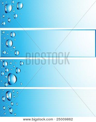 Water drops. Vector.