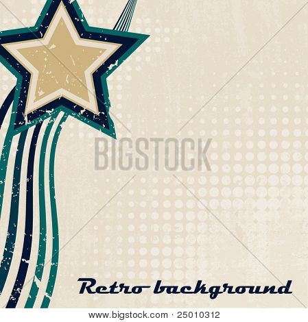 Retro background. Vector.