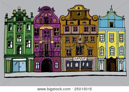 Hand Drawn Cozy Street Colorful