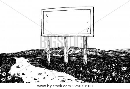 Illustration of a Billboard