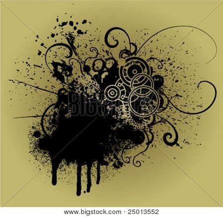 grunge decorative element