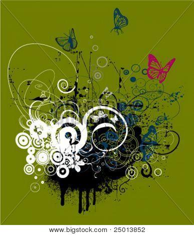 floral t-short design
