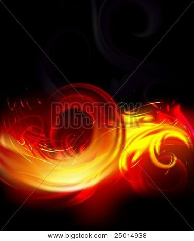 burning floral wave