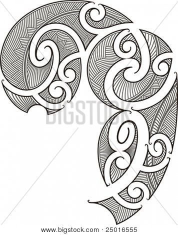 Maori style tattoo design fit for a man's body (shoulder and chest)