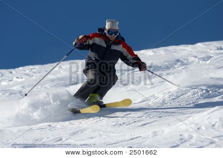 Skiing In Powder Snow