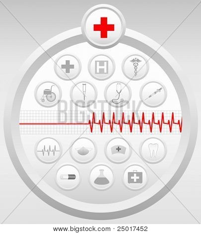 Medical Icons Set - Vector. (Check out my portfolio for other icons set)