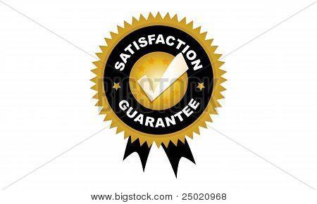 Satisfaction Guarantee Badge Seal