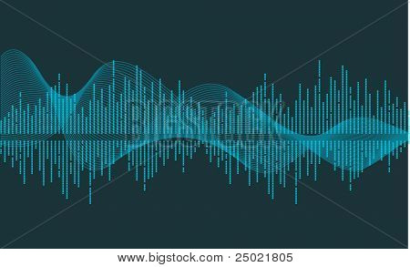 vector music wave- vector