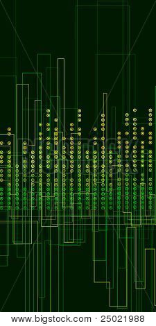 green abstract background - music graphic