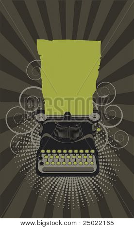 typewriter.Vector  - green