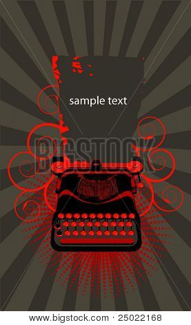 typewriter.Vector  - brown and red