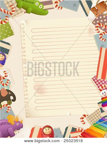Toys- paper background