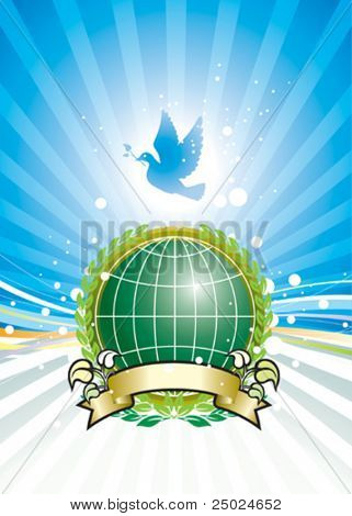 Freedom and Global Environment, vector illustration layers file