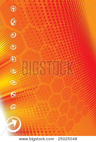 Raster illustration of technology background and arrow sign. (for VECTOR format please view my gallery/portfolio)