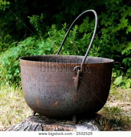 Giant Cast Iron Kettle