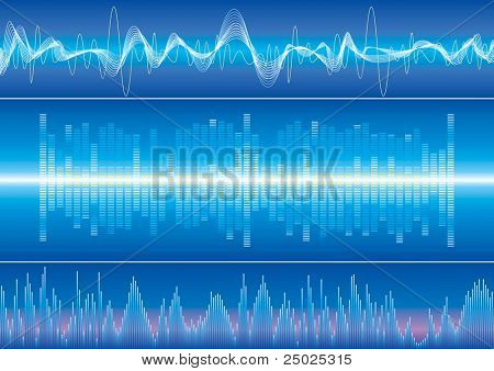 Raster illustration of Sound wave. (Vector version available:13771249)