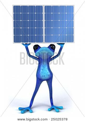 Frog and solar panels