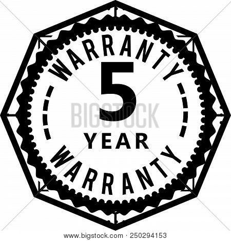 5 Years Warranty Icon Stamp Badge Icon Guarantee Poster Id250294153