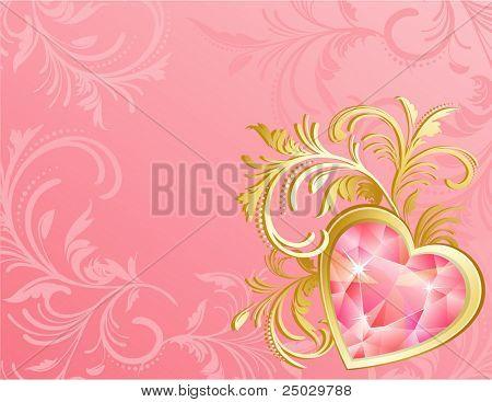 Vector illustration - valentine's day background