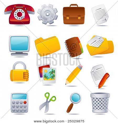 Vektor-Illustration - Büro-Icon-set