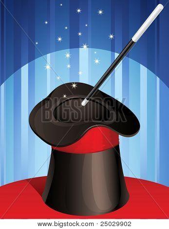 magic hat and magic wand