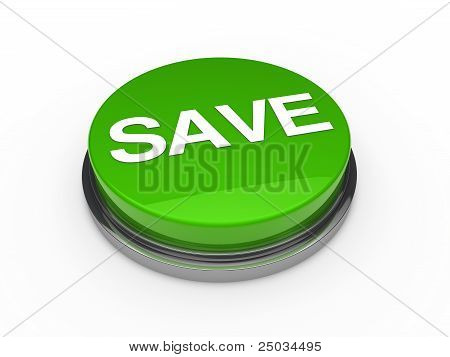Button Green Chrome Save