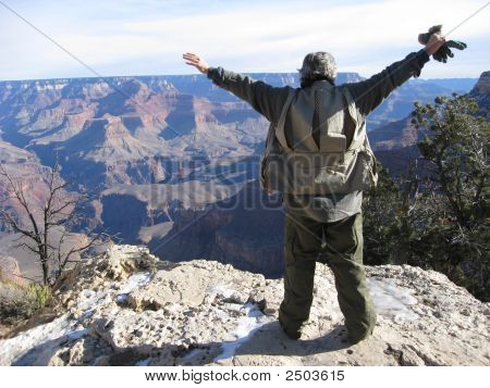 Man At Grand Canyon
