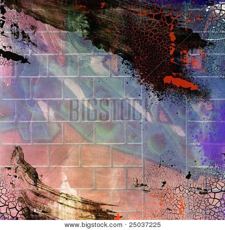 Computer designed highly detailed grunge abstract textured collage with space for your text.  Nice background or texture for your projects