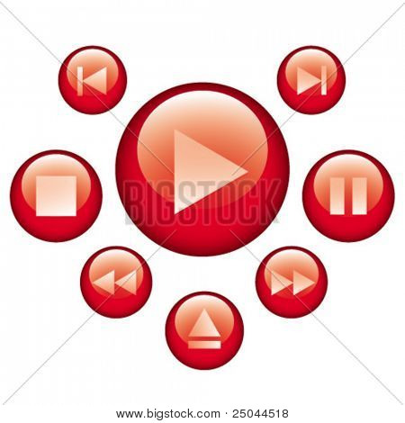 audio video control buttons