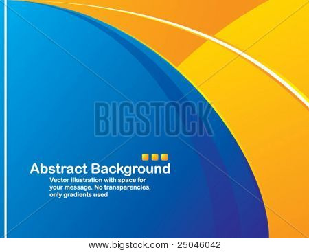 Vector. Clean design with space for your message. No transparencies, only gradients used